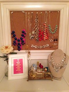 Girly chic jewelry display