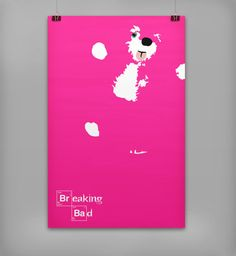 Breaking Bad Minimalistic Poster | Teddy Bear Pink Simplistic Minimal Print | Art Print | Breaking Bad Print