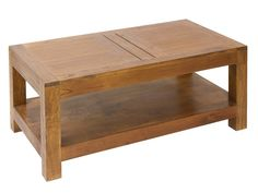 Mesa centro de madera con balda inferior Ohio