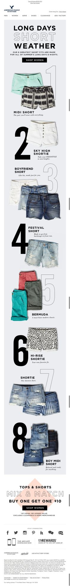 American Eagle fashion Ecommerce Newsletter Ideas Example #email #emailmarketing