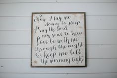 A little different then I remember but sweeter - Bedtime Prayer Sign