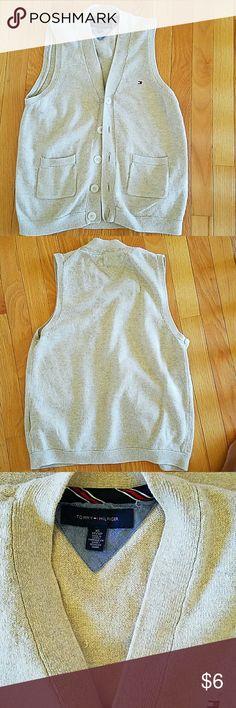 "Tommy Hilfiger Men/Boys Sweater Vest Buttoned sweater vest, Length 23"" Tommy Hilfiger Shirts & Tops"