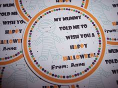 Mummy Halloween Stickers  Halloween Tags  Halloween Tag  by kidEprints, $5.99