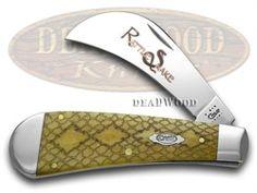 ca8248  CASE XX Antique Bone Rattlesnake Hawkbill 500 made Pocket Knife  8248