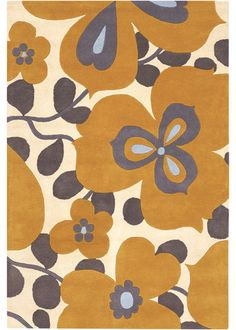 Amy Butler Hand Tufted Wool Rug Morning Glory Orange - from laylagrayce.com