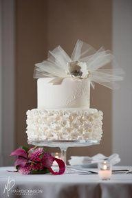 Weddings | Let Them Eat Wedding Cake! - Frilly wedding cake - #weddings #cake