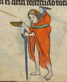 "Detail from ""The Rutland Psalter"", medieval British Library Add MS f Medieval World, Medieval Town, Medieval Art, Renaissance Art, Medieval Manuscript, Illuminated Manuscript, Medieval Drawings, Early Middle Ages, Dark Ages"