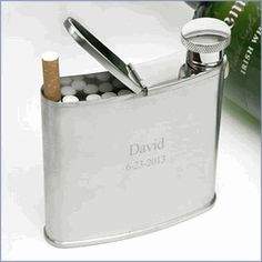 Cigarette Holder with Flask - $22.95 | Groomsmen Gifts Gallore!!!