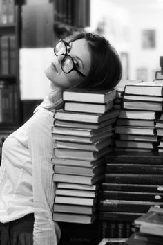 in the library stacks with sultry librarian