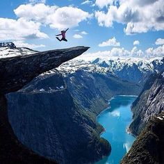 Called The Troll's Tongue by locals, this rock formation in Odda, Norway, is a thrill-seeker's dream. Trolltunga was formed after glacial water froze a chunk of the mountain and caused it to break off way back in the Ice Age. In order to preserve the rock's beauty, no safety barriers have ever been built, but the four-hour trek will create the photo of a lifetime.