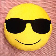 2016 Popular Emoji Gift Smiley Cool Sunglasses Emoticon Birthday Party Stuffed Cushion Home Decorative Plush Pillow Soft Toy $13.78