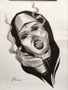Like the eyes Kunst Tattoos, Body Art Tattoos, Sleeve Tattoos, Tattoos Masculinas, Chicano Tattoos, Dark Art Drawings, Cool Drawings, Pencil Drawings, Tattoo Sketches