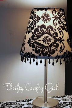 fabric & beads lampshade tutorial