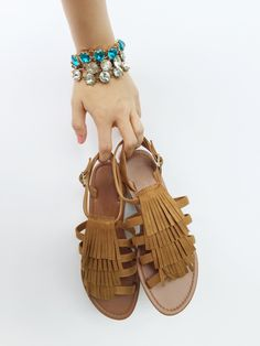 SURPRISE, SURPRISE!!! We're having a pretty amazing day at the 12East HQ so we wanted to spread the love! Our Kennadie Fringe Sandals are 20% OFF for TODAY ONLY! Use code KENNADIE at checkout - offer ends at 11:59PM CST today! Shop12east.com