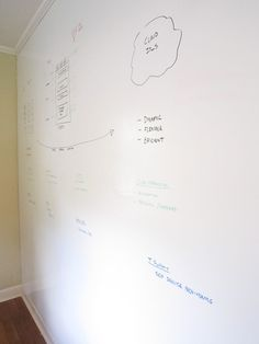 Dry Erase Wall - or should we do this for our little artist instead?