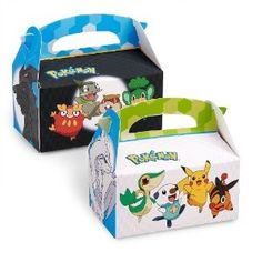 pokemon party favors | Pokemon Black and White - Empty Favor Boxes (4) Party Supplies
