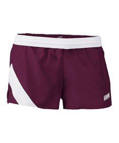 Take a look at this Soffe Maroon & White Stride Shorts today!