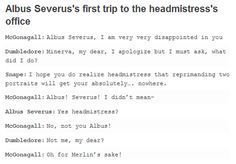 I love how this includes Snape's ominous pause XD