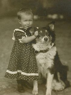 +~+~ Vintage Photograph ~+~+  The adorableness of this - there are no words.... via @KaufmannsPuppy