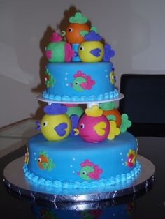 Fish Cake Ocean Wonder Cake Beach Playa Birthday kids