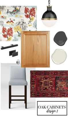 Not ready to jump on the white kitchen trend? Here's how to update your oak cabinets using fresh, modern accessories and decor. Not ready to jump on the white kitchen trend? Here's how to update your oak cabinets using fresh, modern accessories and decor. Updating Oak Cabinets, Refacing Kitchen Cabinets, Cabinet Refacing, Painting Kitchen Cabinets, Cabinet Makeover, Kitchen Cupboards, Kitchens With Oak Cabinets, Cabinet Ideas, Home Decor Kitchen