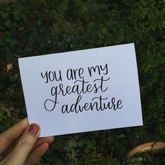 One of my new Valentine's cards.  If you haven't entered the giveaway, scroll back a few posts to enter, it ends tomorrow! Three of you will get $10 credits to pick what you want from the shop!! Regardless, take a peak at my new website when you have the Adventure Holiday, Adventure Travel, Best Brush Pens, Calligraphy Cards, Greatest Adventure, Valentines, Letters, This Or That Questions, My Favorite Things