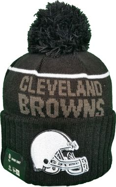 Cleveland Browns Fleece Lined Black Pom Toque