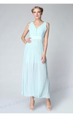 2015 Pale Green Ted Baker Maxi Dress Bai Reversible Pleated ; Fashion Trendy 2015,please share and likes.