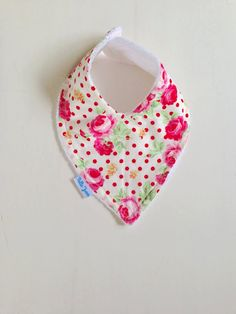 Handmade Pretty Baby Bibs in Retro Prints Toweling Backed Popper Fastening Multi