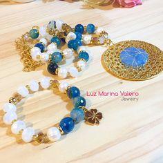 Collar de agatas y perlas by Luz Marina Valero