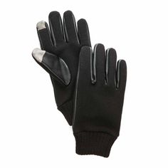 Saddlebred Men s Full Knit Gloves with Touch Technology - Black - S M   fashion 222d0c7dede