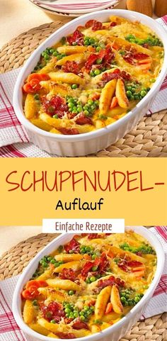 Schupfnudel-Auflauf Ingredients 6 servings 1 bunch of leek onions 1 pc. 1 red, yellow and green paprika each 300 g mushrooms 200 g cooked ham How To Cook Ham, How To Cook Pasta, Lacto Vegetarian Diet, Pasta Recipes, Dinner Recipes, Cooking Together, Mets, Food And Drink, Veggies