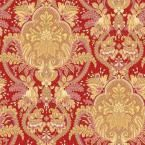 56 sq. ft. Small Paisley Damask Red/Ochre/Pink Wallpaper - Home Depot