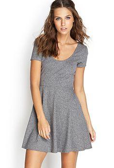 Heathered Skater Dress | Forever21 - 2055879409