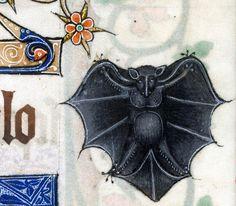 Bat, Luttrell Psalter, England ca. 1325-1340