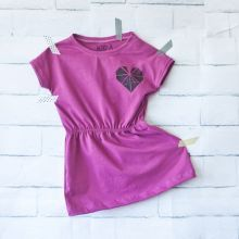 handprinted origami heart dress by Kid-A