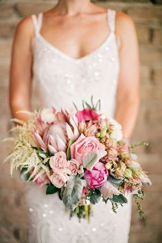 Botanical Chic Wedding Bouquet ~ To Live. To Love. Photography,  Fiori The Flower Studio
