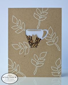 PiecesbyEmily, clear stamps, handmade card, papercrafting, Paper Sweetie, Coffee Loving Blog Hop