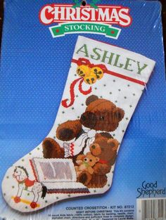 Christmas Stocking Counted Cross Stitch Kit, Night Before Christmas Teddy Bears | Crafts, Needlecrafts & Yarn, Embroidery & Cross Stitch | eBay!