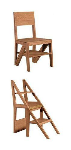 Cadeira escada madeira