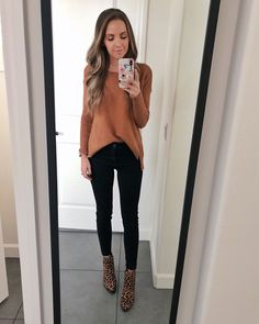leopard shoes outfit camel sweater and leopard print ankle boots Leopard Shoes Outfit, Leopard Print Ankle Boots, Leopard Print Outfits, Booties Outfit, Leopard Prints, Ankle Boot Outfits, Ankle Boots Outfit Summer, Ankle Boots Outfit Winter, Leopard Ankle Boots
