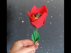 Como Fazer Flor Porta bombom de EVA - flower Goma - YouTube