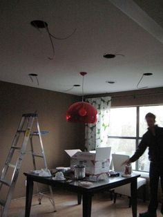 Installing Can Lights-can't wait to get this done in the living room
