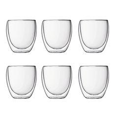 PAVINA SET 6 copos de paredes duplas, 0.25 l Transparente   Bodum