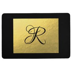 Gold | Floor Mat - home gifts ideas decor special unique custom individual customized individualized