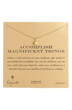 Women's Dogeared 'Accomplish Magnificent Things' Boxed Pendant Necklace from Nordstrom. Saved to .. #accomplish #mackenzieneeddthis