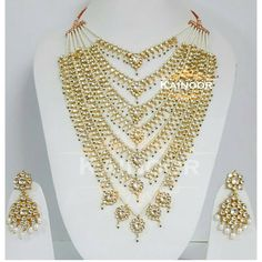"237 Likes, 8 Comments - KA I N O O R  K R E A T I O NS (@kainoor_kreations) on Instagram: ""Traditonal 7 lada haar with cream shell pearls combined with kundan tiny pendants on gold plated…"""