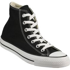 CONVERSE WOMEN'S Chuck Taylor All-Star Hi Black found on Polyvore