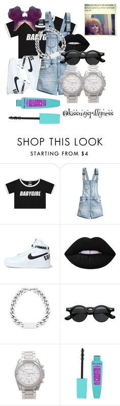 """babygirl"" by kissmyspiffyness ❤ liked on Polyvore featuring H&M, NIKE, Lime Crime and Michael Kors"