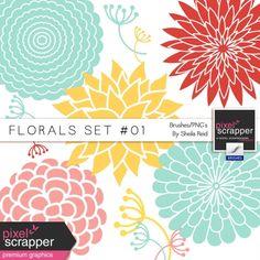 Florals Set #01 Brushes/PNG's Kit